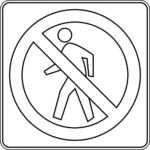 Safety Signs Forbidden To Walking Coloring Pages