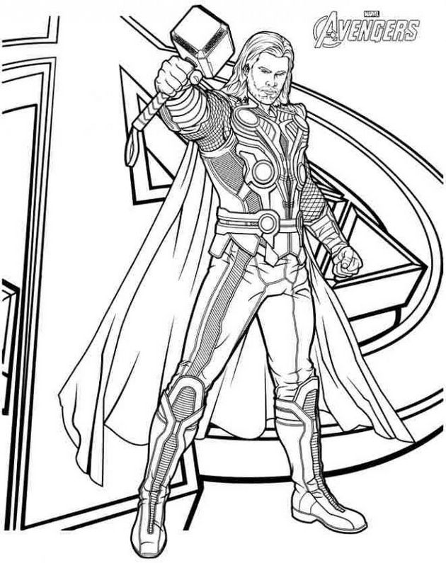 Thor The Avengers Coloring Pages