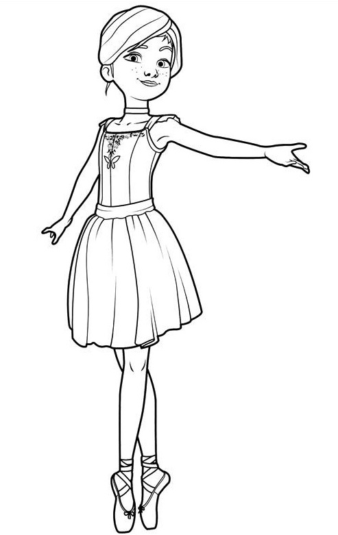 Ballerina Leap Coloring Pages