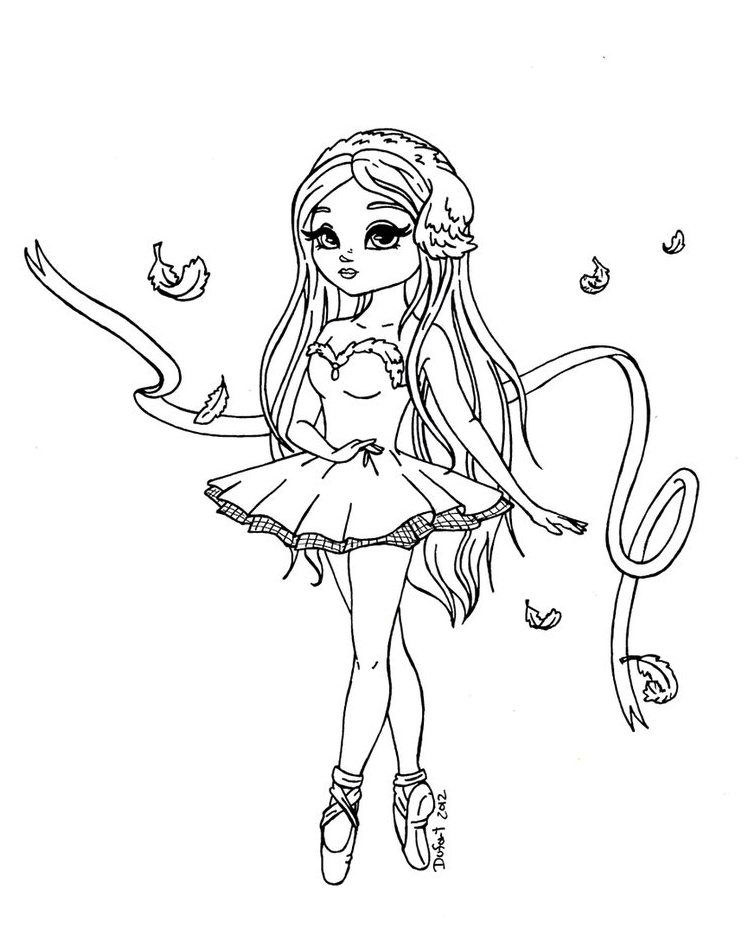 Beautiful Ballerina Coloring Pages
