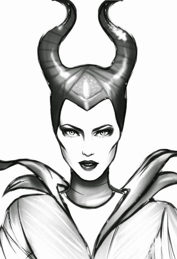Maleficent Coloring Pages To Print 1