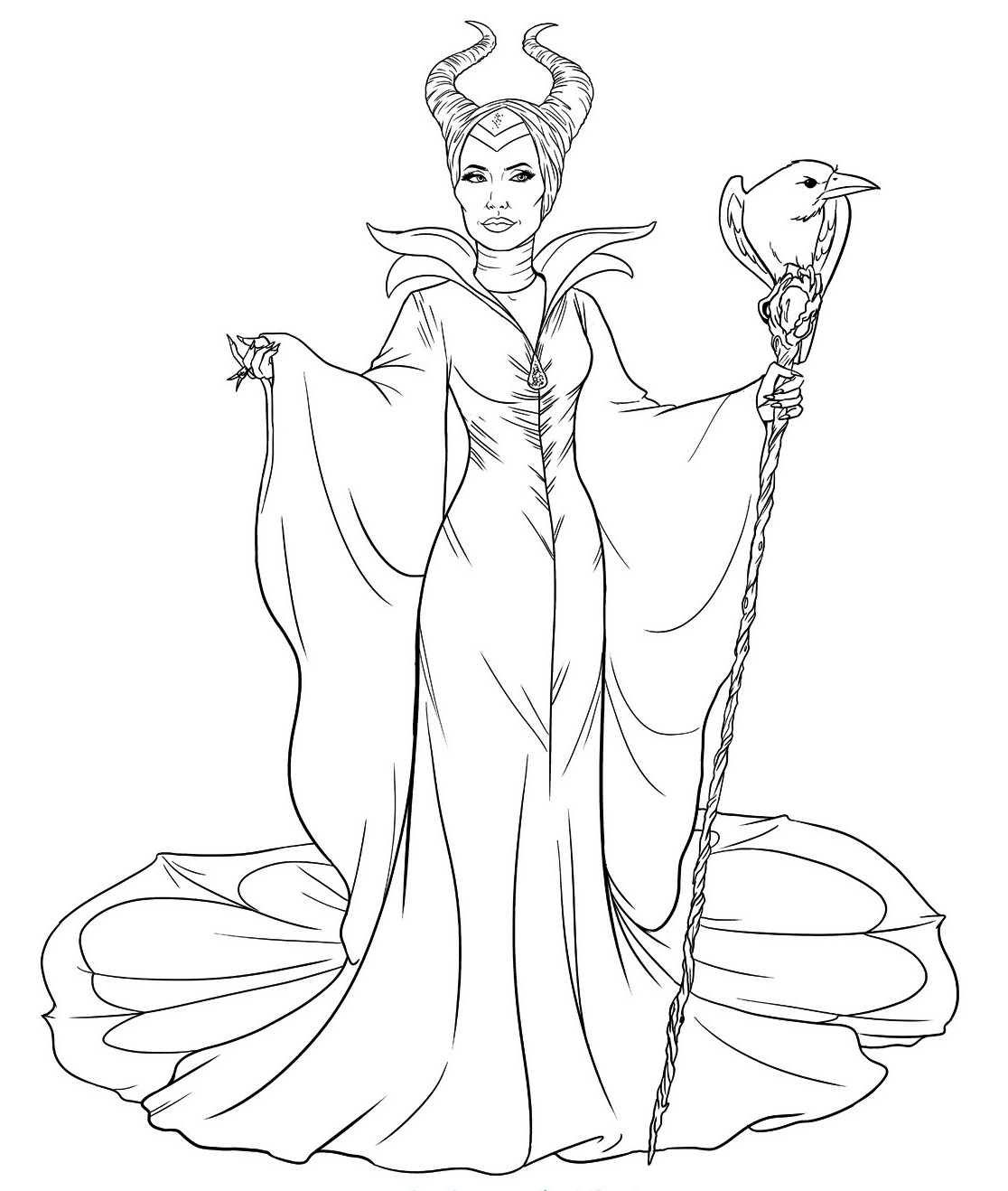 Maleficent Colouring Sheets