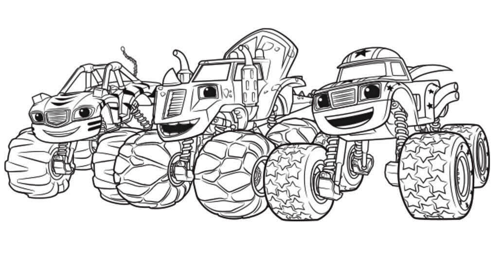Printable Blaze And The Monster Machines Coloring Pages