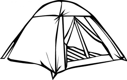Tent Coloring Sheet For Free