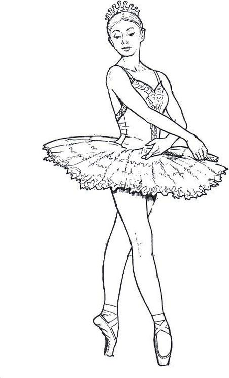 Ballerina Dance Coloring Pages