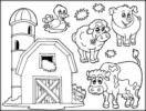Farm Animal Coloring Pages to Inform Kids about Where Meals Come From