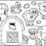 Barn And Farm Animals Coloring Pages Livestock 1