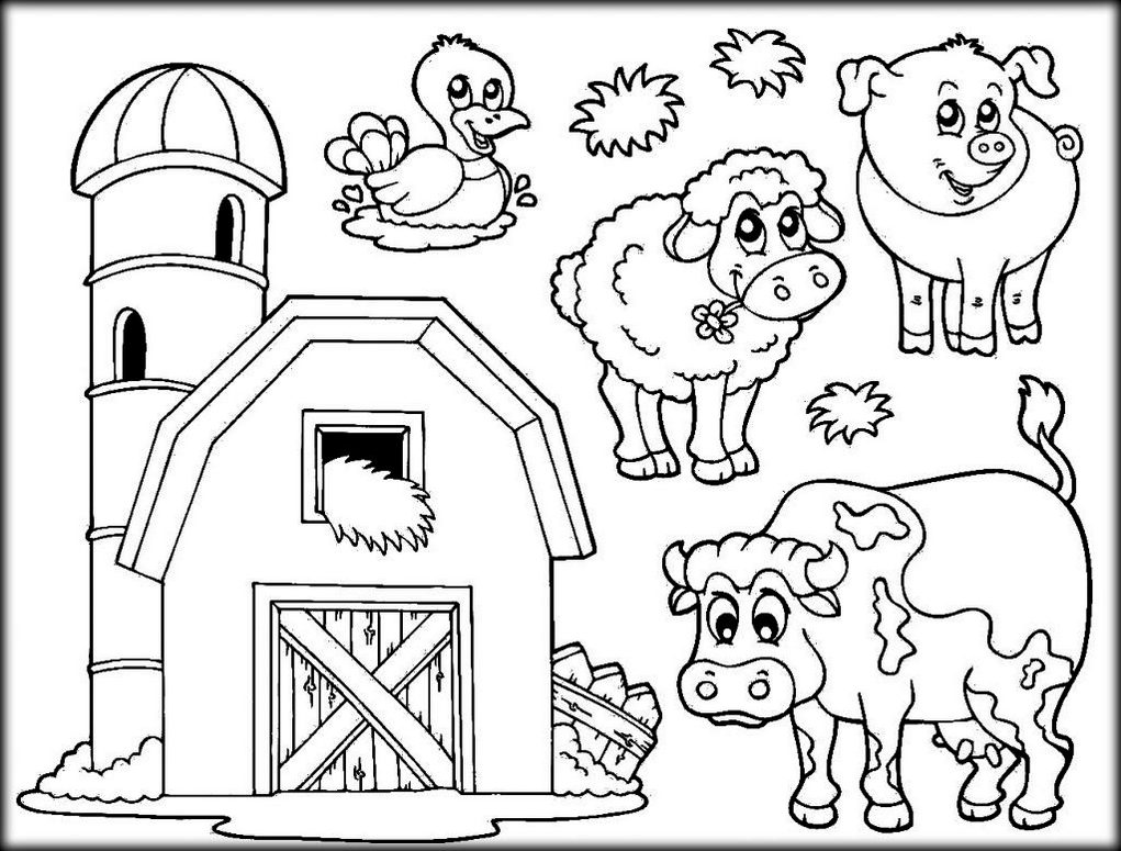 Barn And Farm Animals Coloring Pages Livestock