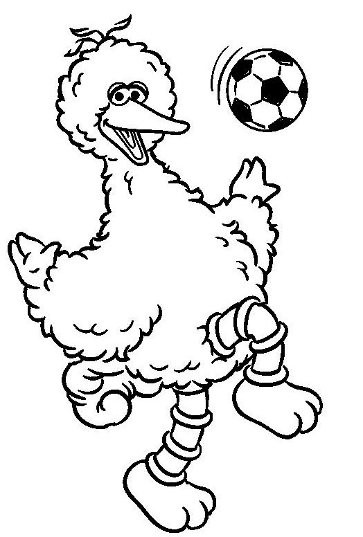 Big Bird Sesame Street Coloring Page Yellow Colour
