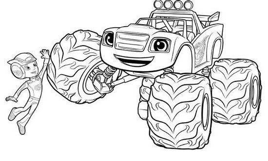 Blaze And The Monster Machine Coloring Pages To Print