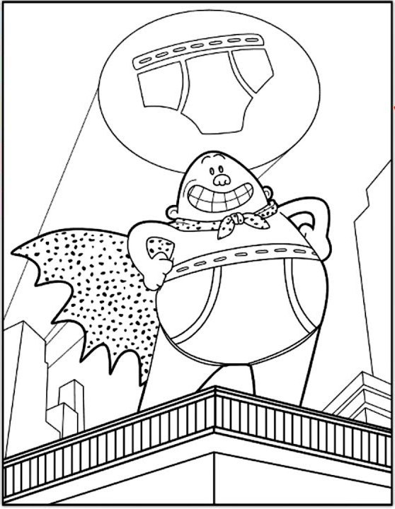 Captain Underpants Coloring Pages Online