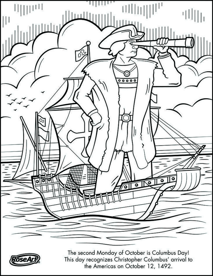 Christopher Columbus Coloring Page To Print