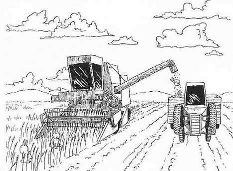 Combine Harvester Coloring Page To Print