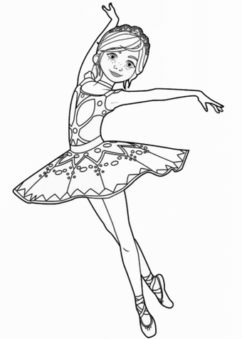 Felicie From Ballerina Movie Leap Coloring Page