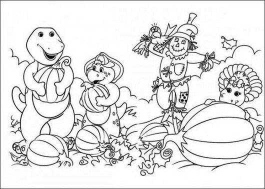 Free Barney Coloring Pages For Kids