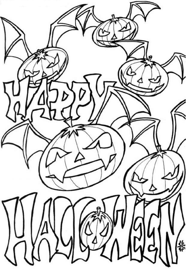 coloring pages pumpkins and ghosts - photo#15