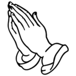 Hand Praying Coloring Page