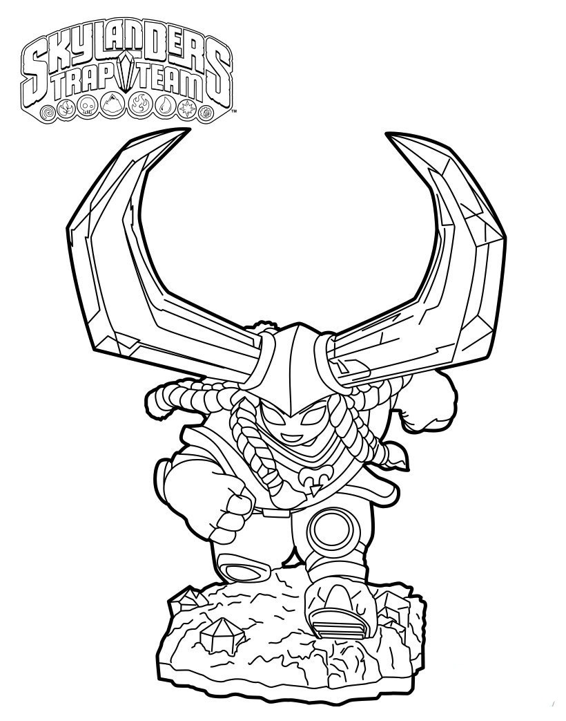 Head Rush From Skylanders Trap Team Coloring Pages