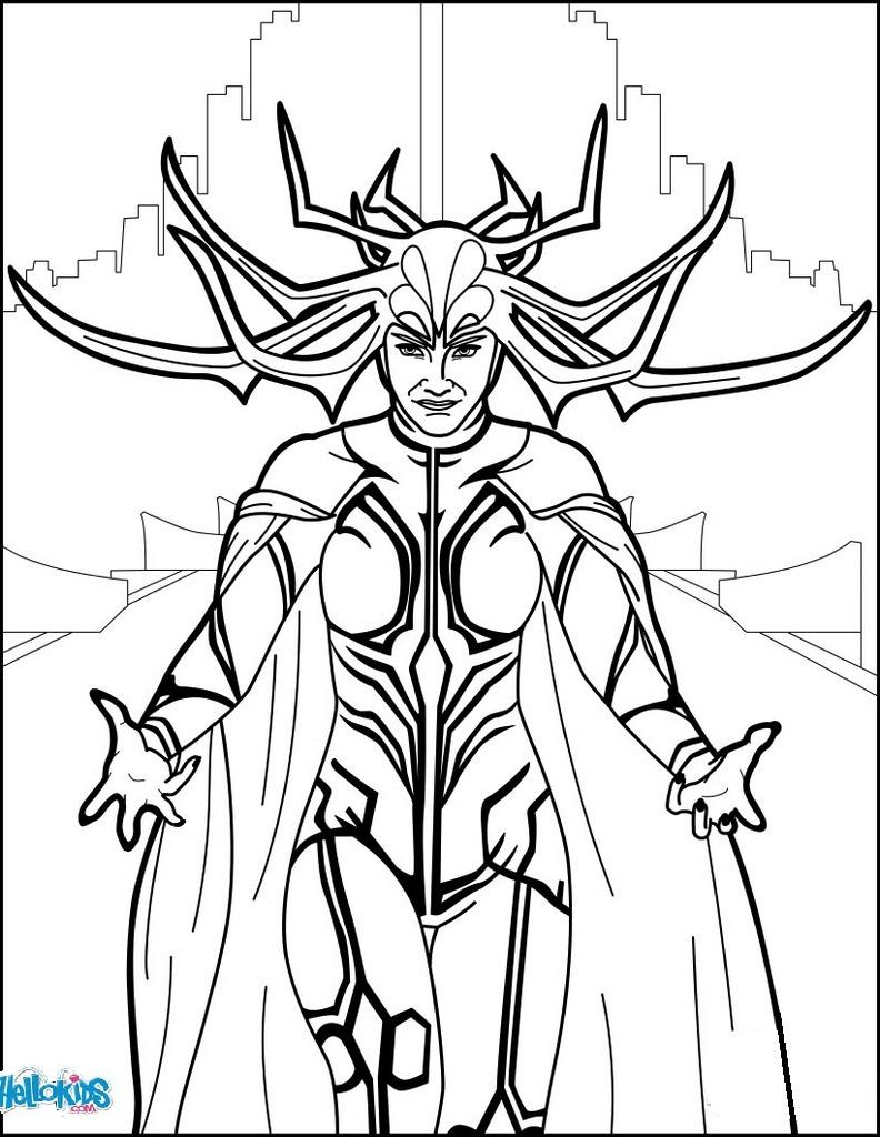 Hela Ragnarok Coloring Page Comic Books