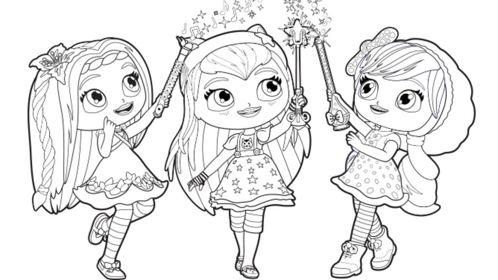 Little Charmers Group Coloring Pages Nick Jr LC