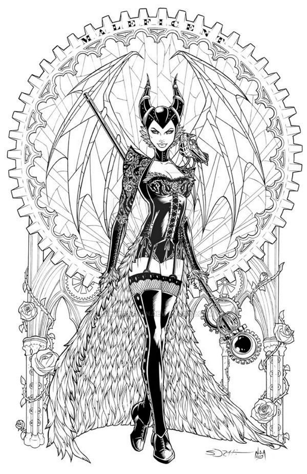 Maleficent Adult Coloring Pages