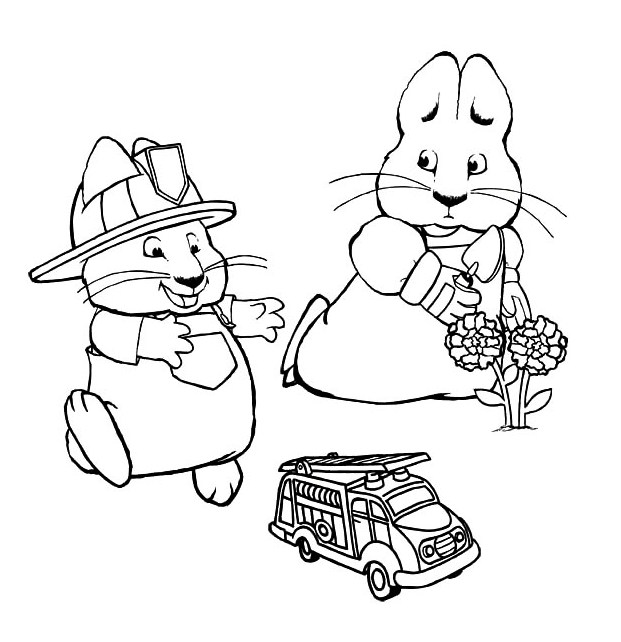 Max And Ruby Colouring Pages To Print