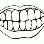 Mouth And Tooth Coloring Page