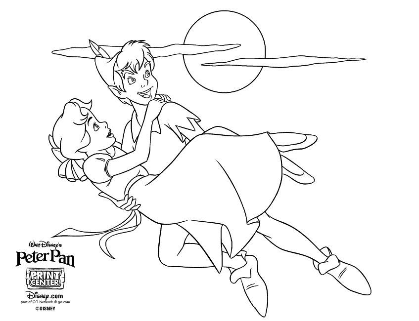 Peter Pan Disney Coloring Page Printable