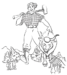 Paul Bunyan and Babe the Blue Ox Coloring Pages