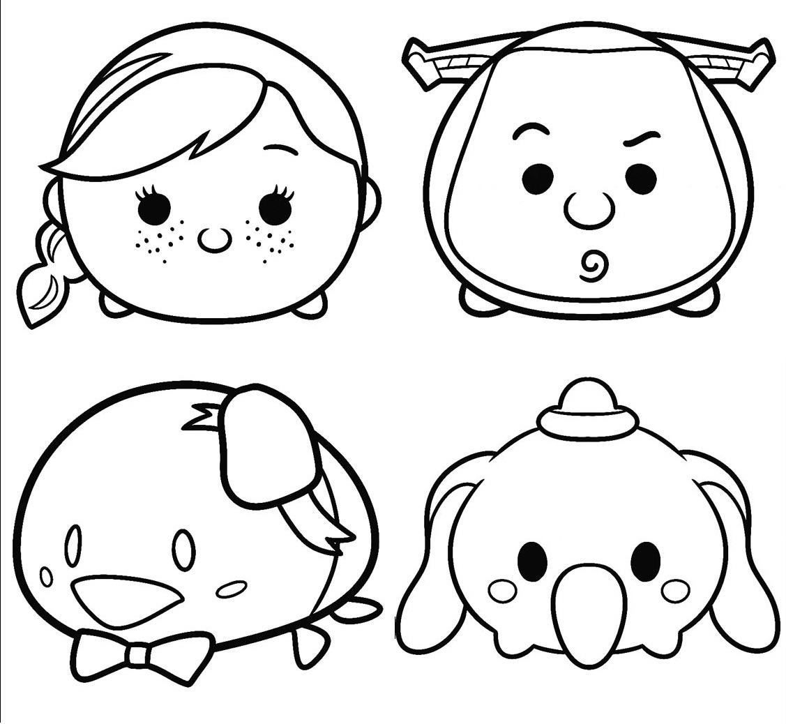 Tsum Printable Disney Coloring Pages Sketch Coloring Page