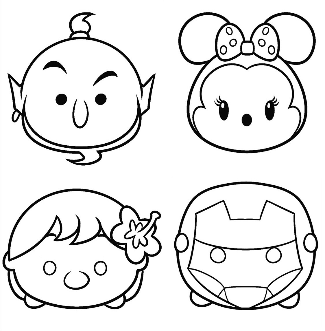 Printable Disney Tsum Tsum Coloring Sheet For Kids