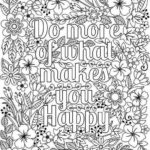 Quotes Of Motivation Coloring Sheet