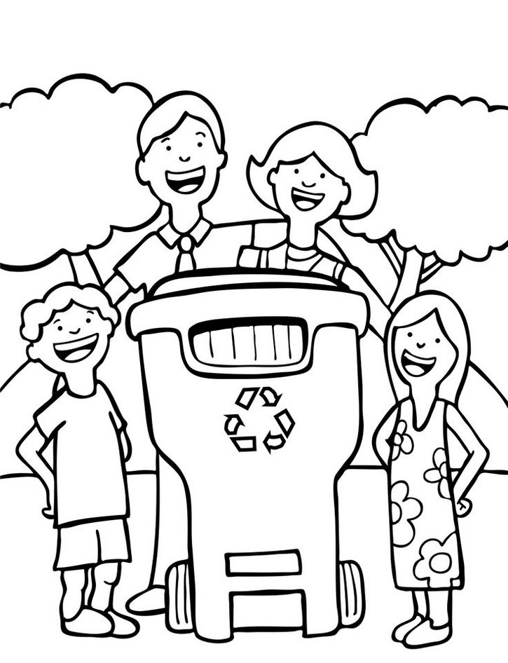 Recycling Coloring Pages Printable