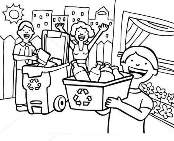 Recycling Coloring Pages To Print 1