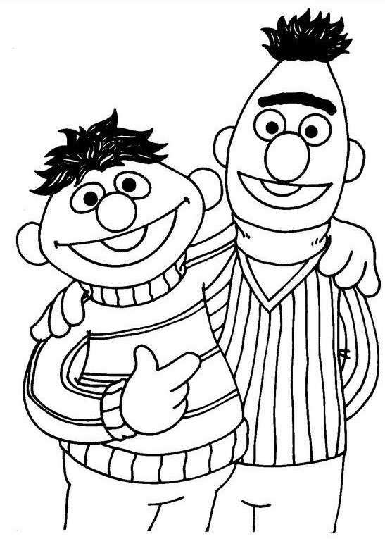 Sesame Street Bert And Emie Coloring Pages To Print