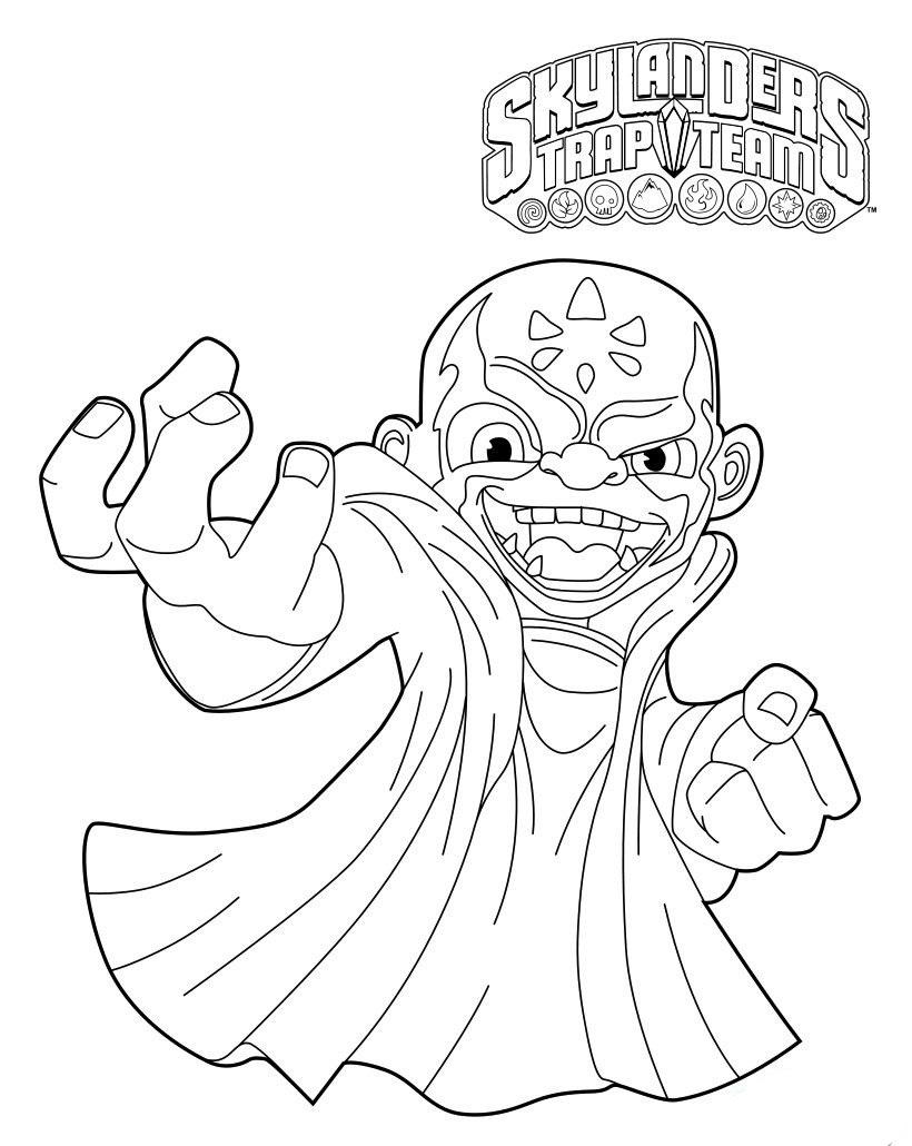 skylanders trap team printable coloring pages | Skylanders Character Coloring Page