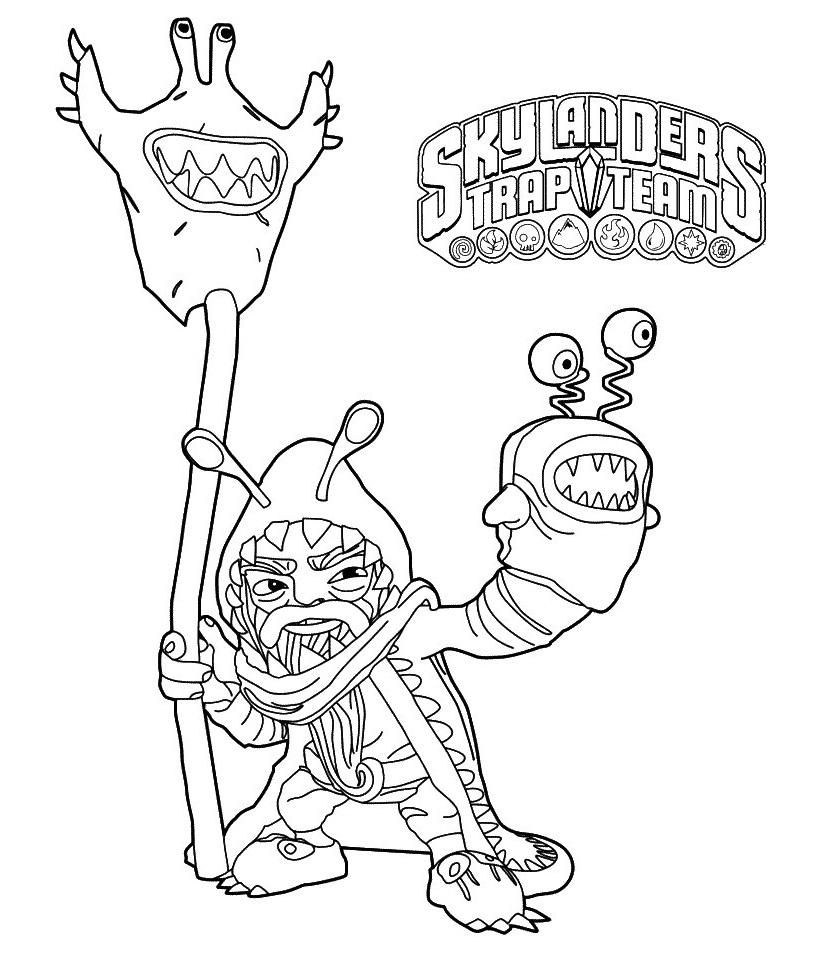 Skylanders Trap Team Coloring Pages To Print