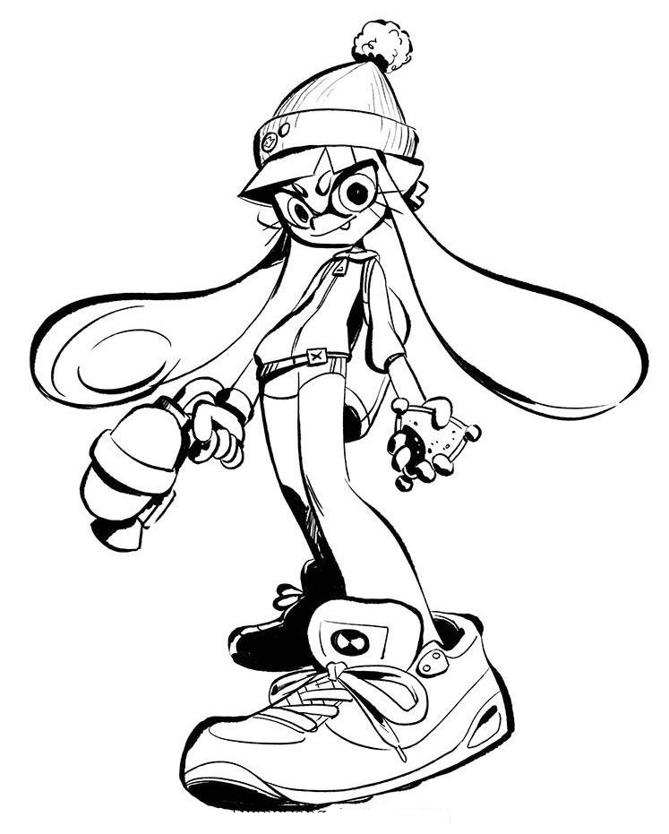 Splatoon 2 Coloring Sheet