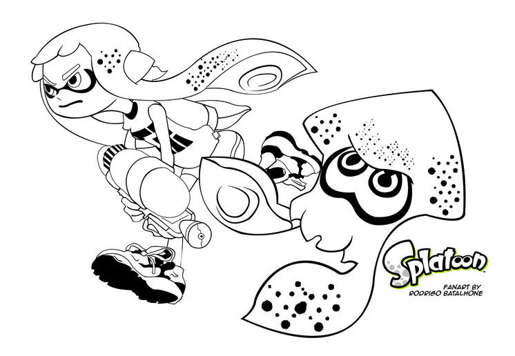 Splatoon Inkling Coloring Pages To Print