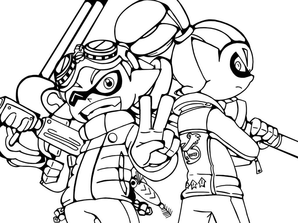 Splatoon Coloring Pictures