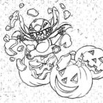 Stitch Halloween Coloring Pages
