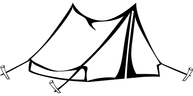 Tent Sleeping Bad Coloring Page For Kids