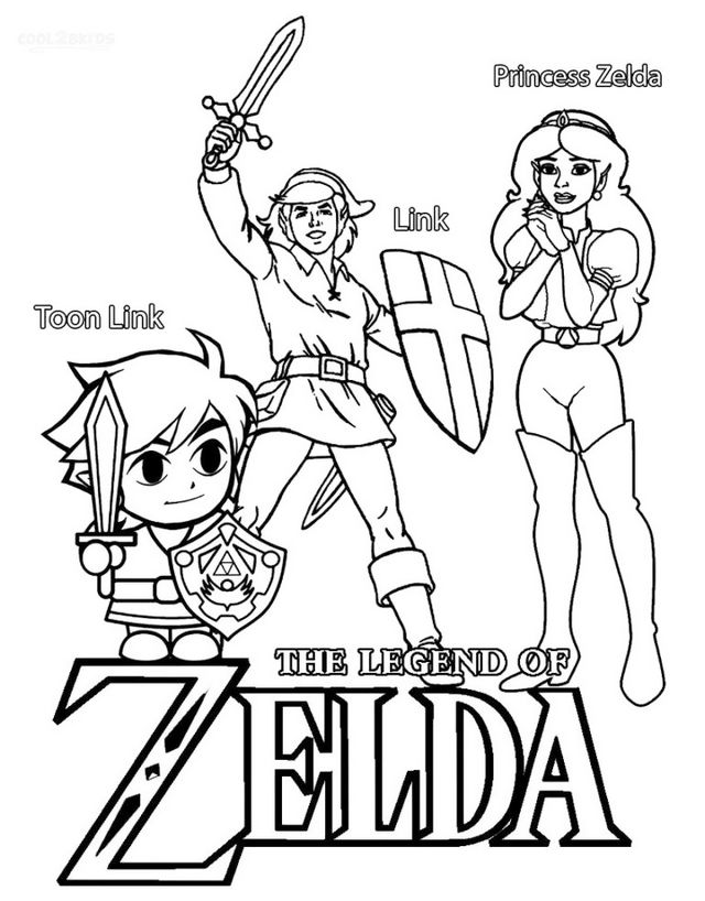 the legend of zelda coloring pages coloring pages - Zelda Coloring Pages