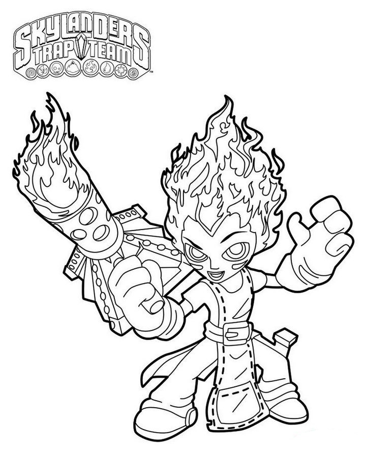 Torch From Skylanders Trap Team Coloring Pages