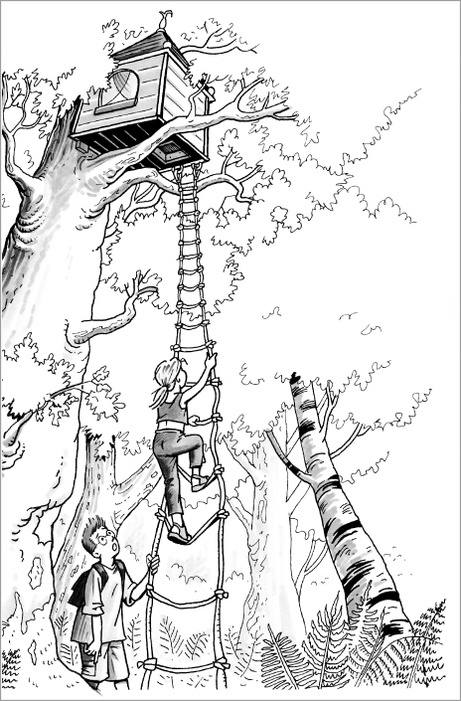 Tree House Drawing