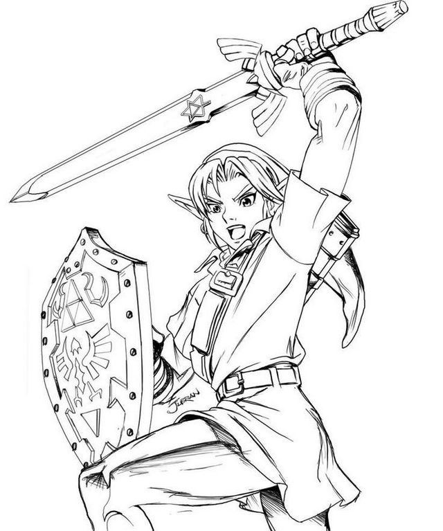 Zelda Coloring Page Printable