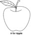 Fresh Images of Apple Coloring Pages to Learn Letter and Coloring for Kids