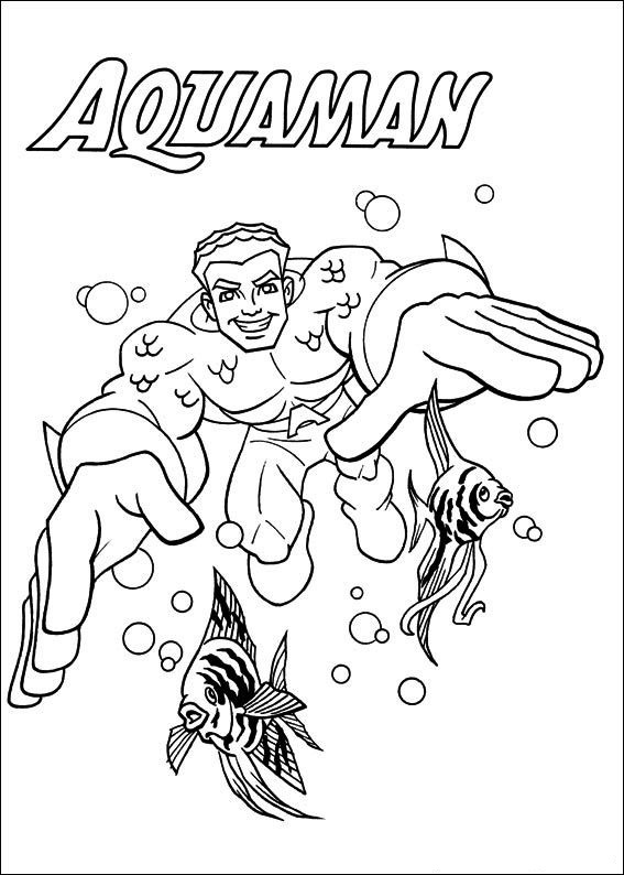 Aquaman Coloring Page Online