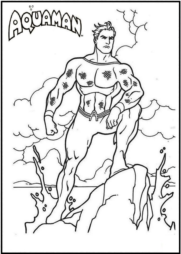 Aquaman Comic Books Coloring Page