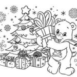 Care Bears On Christmas Day Coloring Sheet